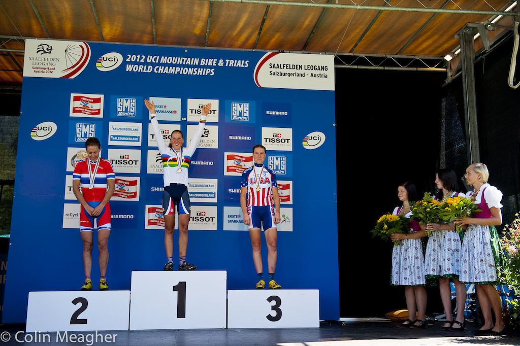 Elite Women s Podium L-R Gunn Rita Dahle Flesjaa Bresset and Gould.