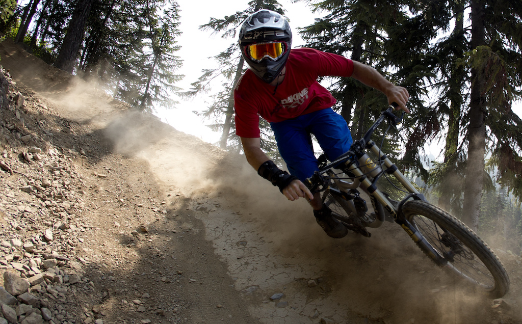 Mountain bike rider Dylan Sherrard is seen riding along a trail in Whistler B.C. Monday August 13 2012. THE CANADIAN PRESS Jonathan Hayward