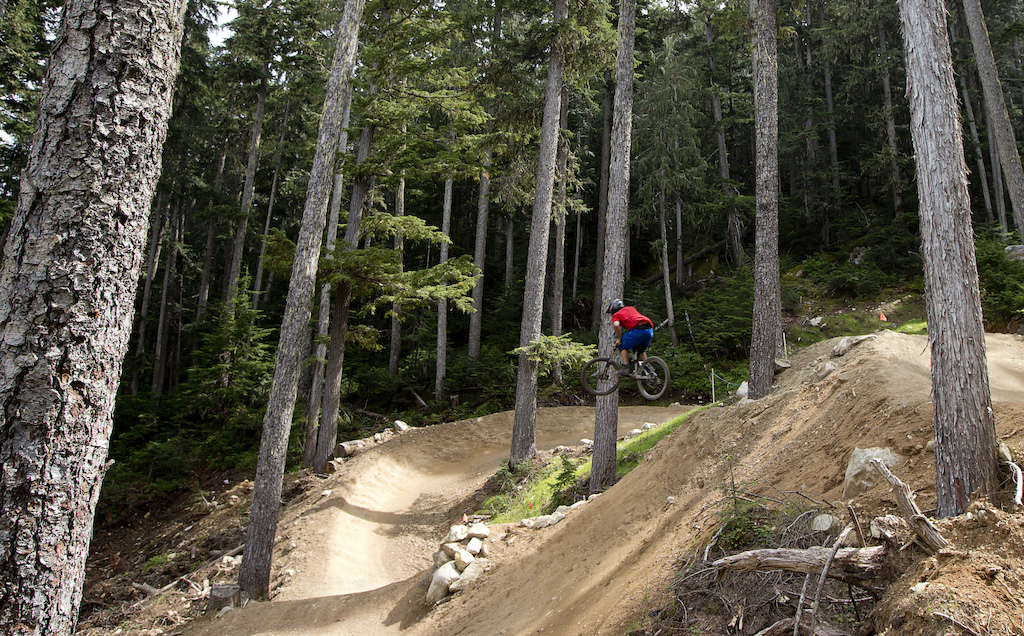 Mountain bike rider Dylan Sherrard is seen in the Whistler Bike Park in Whistler B.C. Monday August 13 2012. THE CANADIAN PRESS Jonathan Hayward