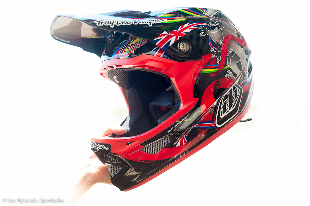 The Troy Lee Designs D3 helmet with Steve Peat graphics you can buy this one...