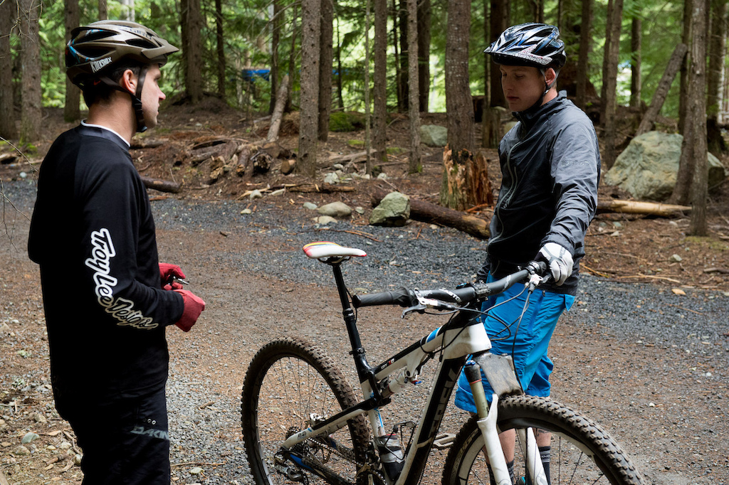 Rockshox suspension testing at Whistler with Mike Levy and Brad Walton
