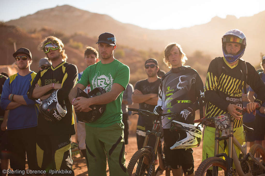 rider meetings in utah have sick light at Redbull Rampage 2012