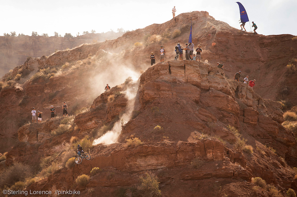 Messere learning what is takes at Rampage...at 2012 Redbull Rampage