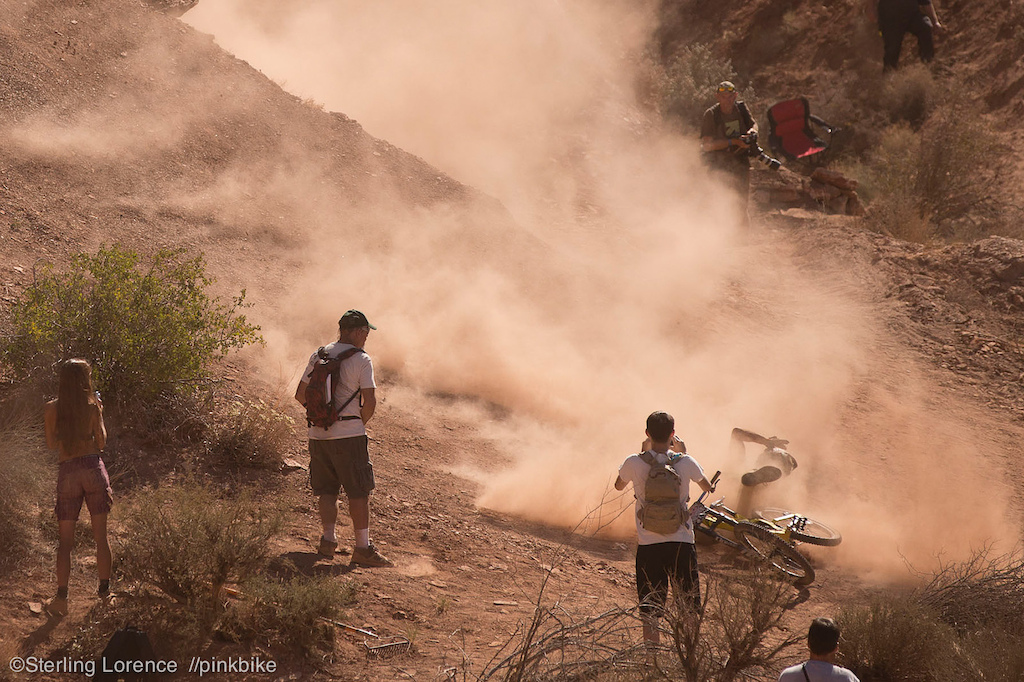 Kinrade loosing the battle to the wind...at 2012 Redbull Rampage