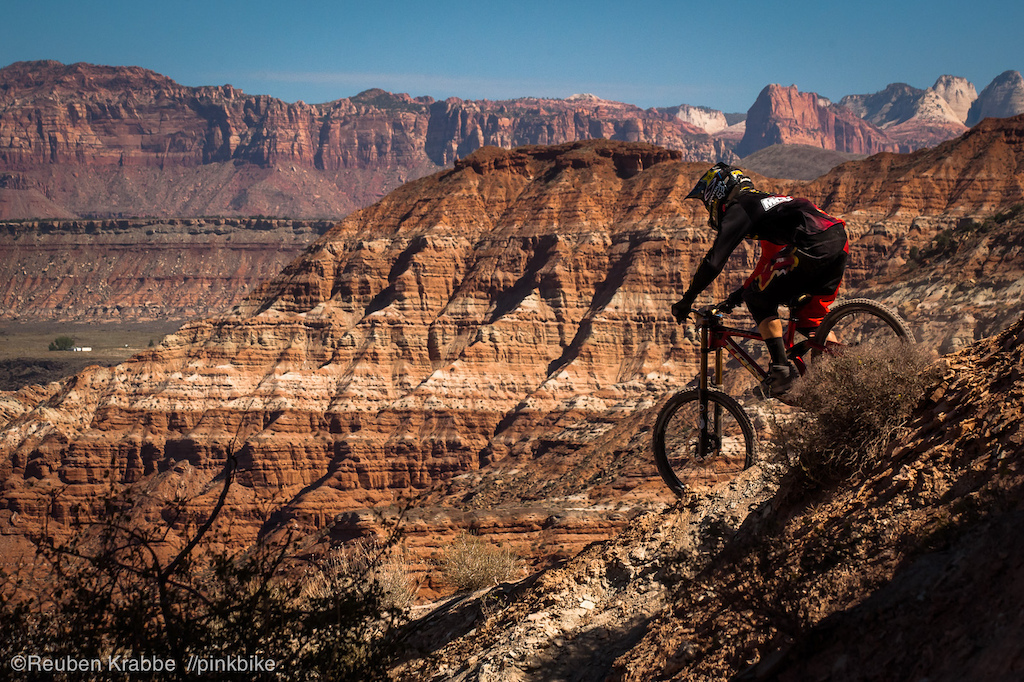 Cam McCaul ridgeline traverse with the beautiful peaks of Zion on the horizon