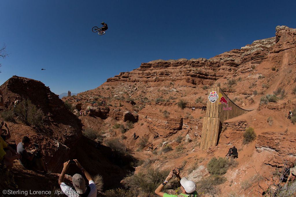 Cam McCaul cleans the canyon gap