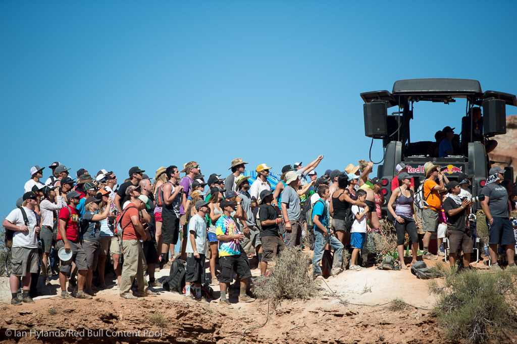 Spectators at Red Bull Rampage in Virgin Utah on 7 October 2012