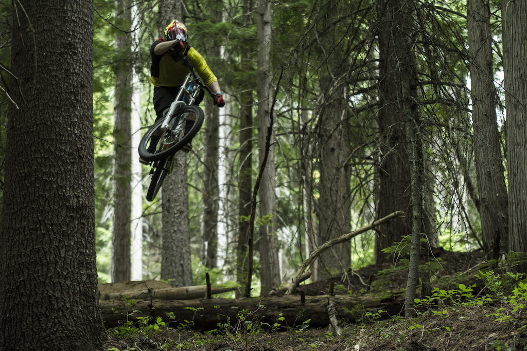 Mike Hopkins crushing it during the filming of Loam Factory.