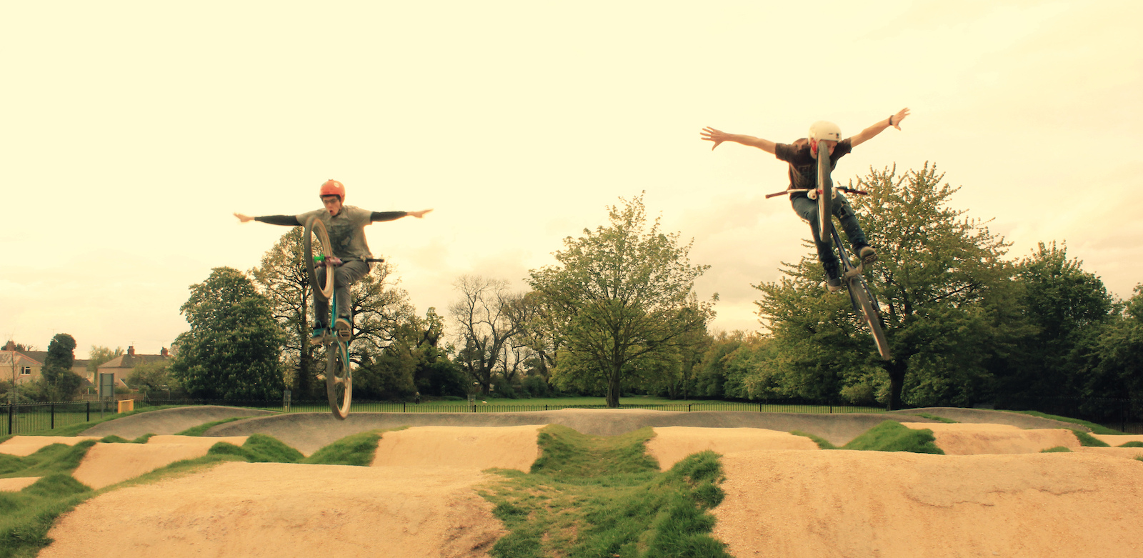 tuck no handers at the pump track